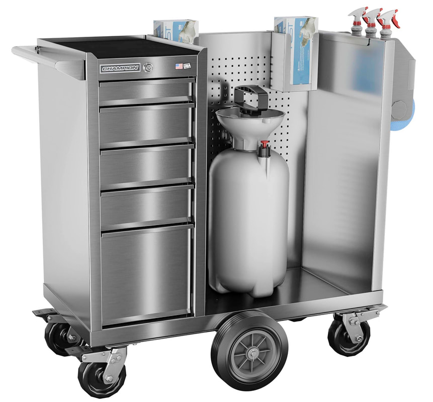 Stainess Steel Covid 19 Maintenance Cart